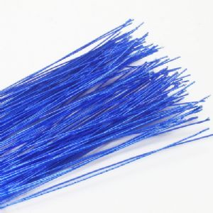 Florist wires, blue, 0.4mm (approximate), 20 pieces, 80cm, Gauge 26, (TS040)